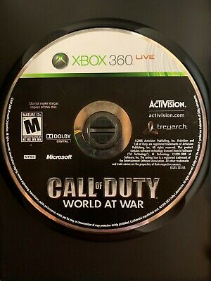 Call of Duty: World at War (Microsoft Xbox 360, 2008) Tested & Working