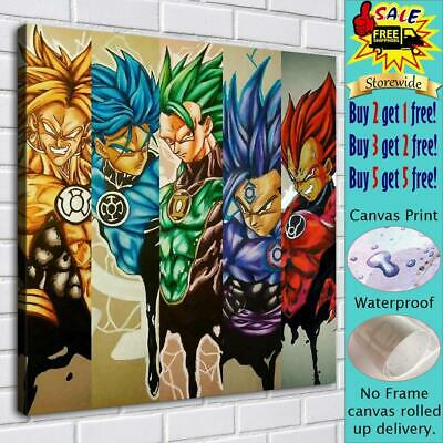 """Dragon Ball Z HD Canvas Print Painting Home Decor room Wall art Picture 16""""x16"""""""