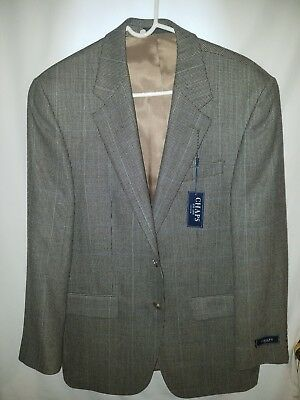 CHAPS Mens 38R 100% Lambs Wool Sport Coat Jacket Blazer Gray $225 New