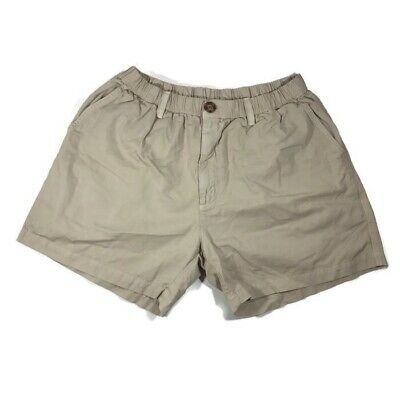 "df76f07c9 MENS CHUBBIES SHORTS Khaki Elastic Waist Size Large 5"" Inseam ..."