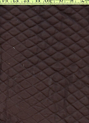 Black Cotton Nylon Backed Diamond Quilted Sewing Upholstery Fabric 3+ YDS!