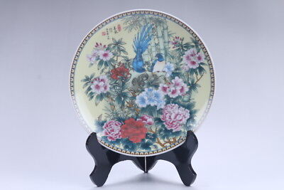 Exquisite Collection Chinese  Handwork flower  porcelain plate   aa284