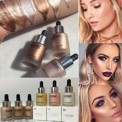 6 Color ICONIC Liquid Concealer Highlighter Makeup Shimmer Face Illuminator Glow