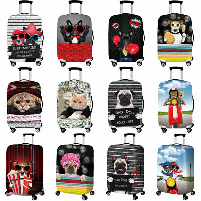 """Cute Cartoon Travel Luggage Cover Protector Suitcase Spandex Skin Cover 18"""" -32"""""""