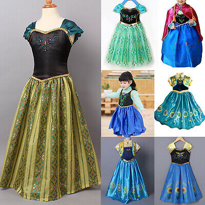 Girls Kids Princess Costume Cosplay Halloween Royal Court Party Fancy Dress
