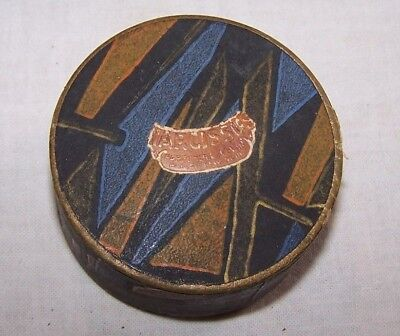 1920'S Art Deco Cardboard Powder Box-Parfumere-Vovan-Paris-New York-Vanity-Face