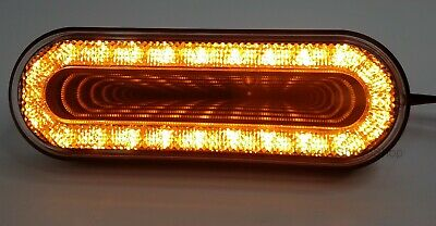 "6"" Oval Amber LED Turn Signal Light, ""MIRAGE"" Series LEDs w/ Clear Lens"