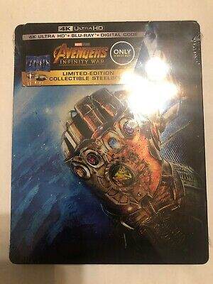 NEW Avengers: Infinity War Best Buy ONLY Limited Edition 4K Steelbook FREE SHIP