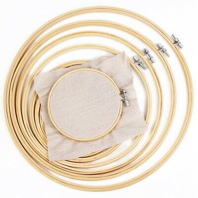 30cm Wooden Bamboo Frame Hoop Ring Embroidery Cross Stitch Sewing Accessory GL