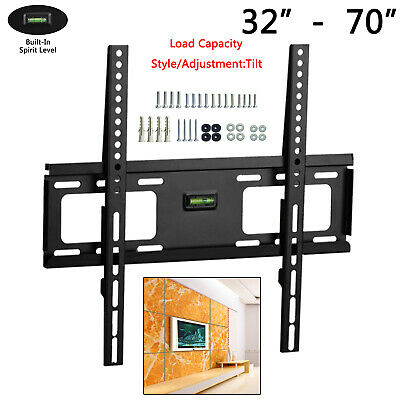 Low Profile Lcd Led Plasma Flat Tv Wall Mount Bracket for 26-72 inch Screen TV
