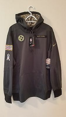 24a8c53cc Pittsburgh Steelers 2016 Nike Nfl Salute To Service Hoodie Xl Last One !