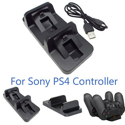 For Sony PS4 Controller Charger Dual Micro USB Fast Charging Station Indicator