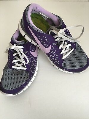 245788fcc355 Nike Women s Free Size 8.5 395914-004 purple lace up lightweight running  sneaker