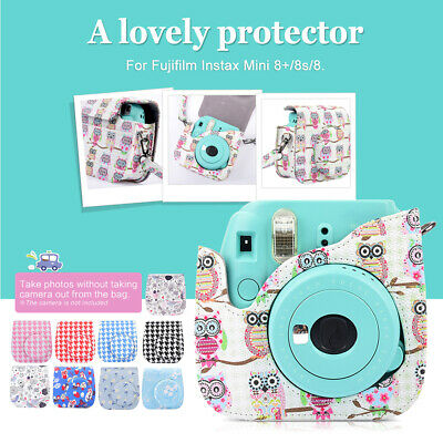 Andoer Compact Cute Lovely PU Leather Protective Camera Bag Carrying Case D4A1