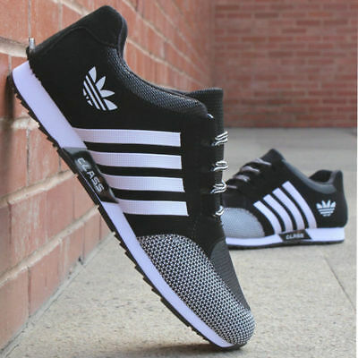 MENS PUMPS RUNNING TRAINERS LACE UP MESH CASUAL SPORTS SHOES BREATHABLE Gym SPOR