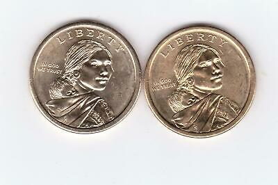 2011P & 2011D Sacagawea Dollar Coins, two very nice coins!