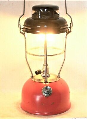 Red Tilley X246B kerosene storm lamp, new seals fitted, burns good, original.