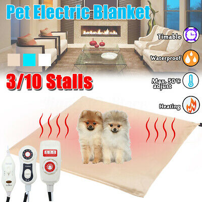 AU 10 Modes Pet Dog Cat Electric Heated Heating Blanket Pad Mat Warming Heat Bed