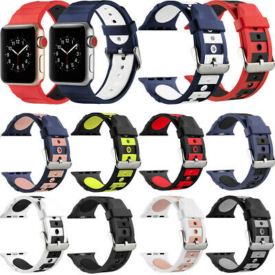 For Apple Watch Strap Series 4/3/2/1 Silicone Sport Watch IWatch Band 38-44mm