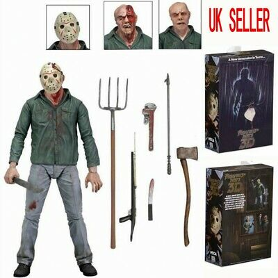 """NECA Friday the 13th Action Figure Ultimate Part 3 Jason 7"""" Deluxe Toy Kids Gift"""