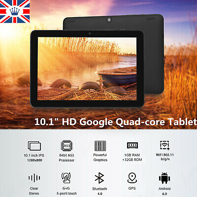 "10.1"" Inch Tablet PC HD Android 6.0 Google Quad-core Dual Camera 32GB Wifi FZ"