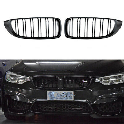 Gloss Black Double Slat Grill Grille M4 Style fit for BMW F32 F33 F36 F82 2014-