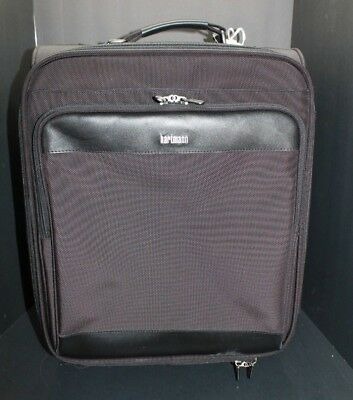 "HARTMANN Black Carry on Luggage Century 21"" Travel Carryon Bag USED"