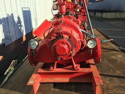 Armstrong Water Pump Fire Sprikler Worthington Simpson Large Diesel Engine Drive