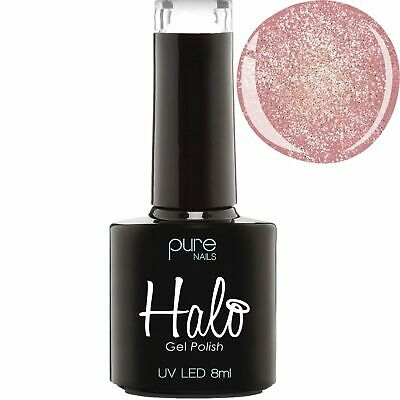 Pure Nails - LED/UV Halo Gel Polish Collection - Rose Gold Sparkle 8ml