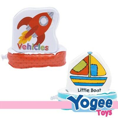 Floatee Bath Book Value Pack: Vehicles + Little Boat