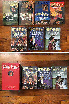 Lot Integrale De 7 Livres Harry Potter Du Tome 1 A 7 J K