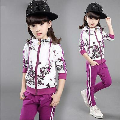2019 Kids Girl Clothes Jacket Clothing Girl Tracksuit Sport Suit Hoodies+Pants