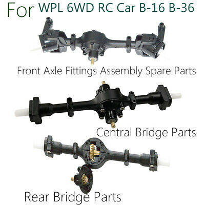 Metal Gear Sturdy Front +Central +Rear Axle Assembly Spare Part For WPL B36 B16