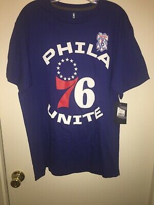 78ca42c36c44 Fanatics Branded Philadelphia 76ers Royal Unite Team Tri-Blend T-Shirt Size  L