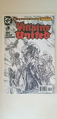 Villains United Issue 1 of 6 2nd Print Sketch Variant  1st Print DC Comics NM