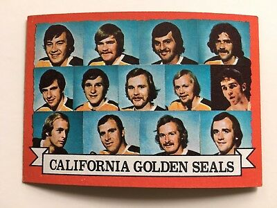 1973-74 Topps #95 California Golden Seals Team Card NHL Hockey NM Condition
