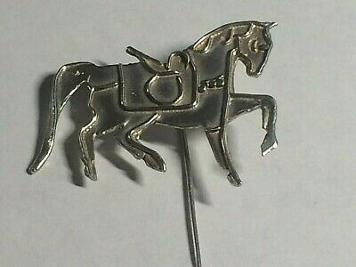Vintage 925,solid Silver Large Horse Brooch/pin. Birm 1992,