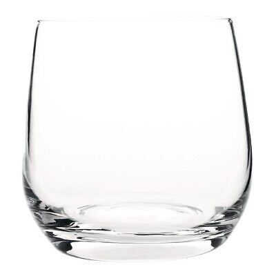 Olympia Claro One Piece Crystal Tumbler 395ml (Pack of 6)