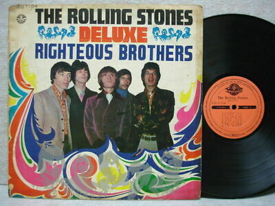 Rolling Stones & Righteous Brothers Deluxe Unique Cover Old Lp + Sticker