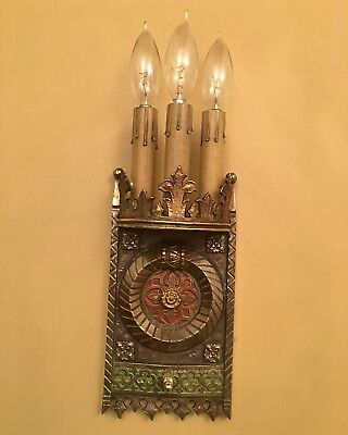 Vintage Lighting striking pair 1920s quality sconces