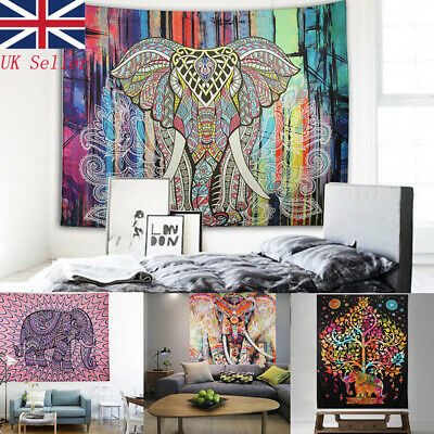 UK Large Indian Ombre Tapestry Wall Hanging Mandala Hippie Bedspread Throw Cover