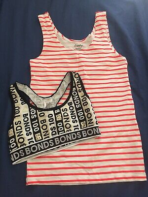 Bonds Crop Top and Singlet Size 10 New