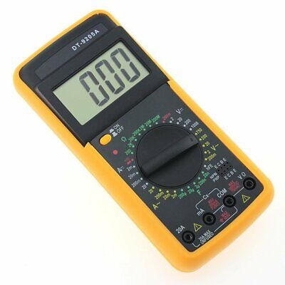 Multimetro Display Digitale Tester Professionale 9205A Cavi Astuccio Volt Ampere