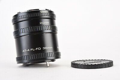 Vivitar AT-4 Canon FL FD Automatic Extension Tube Set 36mm 20mm 12mm MINT V67