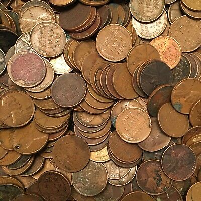 Lincoln Wheat Cents CULLS (50-coin lot)