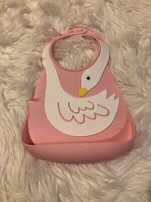 Make My Day Baby Bib | Food Catcher | Silicone Bibs | Pink Swan NEW