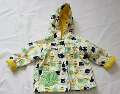 George Baby Girls Cream Floral Coat Size 6-9 Months Baby Clothes - D16