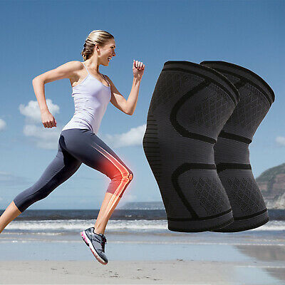 Compression Knee Brace Arthritis Joint Pain Patella-Relief Support Sports Sleeve