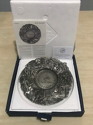 Royal Selangor Lord Of The Rings The Two Towers Pewter Plate