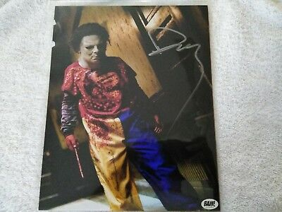 Bam Box Daeg Faerch Signed Young Michael Myers -ROB Zombies Halloween Silver ink